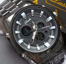 Lasebo - Jam Tangan Pria Stainless Steel - LJR1851 Chain Black White