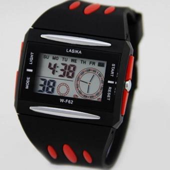 Lasika - Jam Tangan Digital Anak Laki-laki - RED 62D