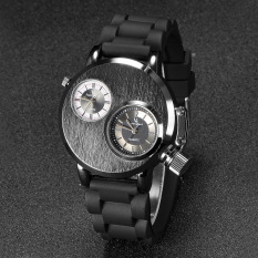 LBW V6 Brushed Textured Dual Movement Mechanical Style Tape Men's Watch (Black) (Intl)