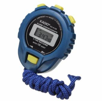 LCD Chronograph Digital Timer Stopwatch Sport Counter Odometer Watch Alarm Blue - intl