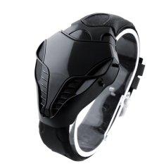 LED Digital Fashion Boy Mens Cobra Iron Triangle Dial Wrist Watch New - intl