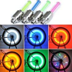 LED Tutup Pentil Lampu LED Bike Car Tyre Neon Wheel Ban Motor Mobil Sepeda Fireflys - Pentil LED Orange