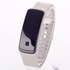 LED Watch 2015 Fashion Sport Digital Watch Silicone Running Bracelet Watch For Women Men Kids Wristwatch Relogio Feminino Clock (Grey)