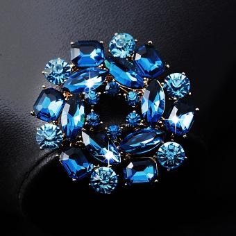 ... Gantung Single Mode Pin Kerah ... - Crown Pria Jas Dan Kemeja Lintas Pin Gesper Bros Pin Bros Pin. Source · LINGLADY Eropa dan Amerika asli kristal pin