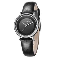 LONGBO Casual Luxury Sport Genuine Leather Straps Quartz Wrist Watch Lovers Watch Wristwatch 80238 - Intl
