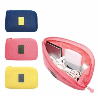 Lucky Cable Pouch Travel Multifunctional / Dompet Tas Charger Kabel Power Bank Multifungsi Besar
