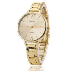 Luxury Brand Women Bracelet Geneva Watch Stainless Steel Wristwatch (Gold) (Intl)
