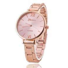 Luxury Brand Women Bracelet Geneva Watch Stainless Steel Wristwatch (Pink) (Intl)