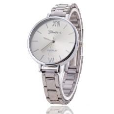 Luxury Brand Women Bracelet Geneva Watch Stainless Steel Wristwatch (Silver) (Intl)