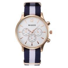 Luxury Fashion Canvas Mens Analog Watch Wrist Watches White