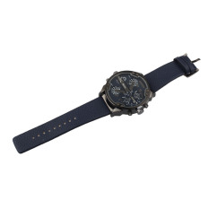 Luxury Military Army Dual Time Quartz Large Dial Wrist Watch Oulm Blue