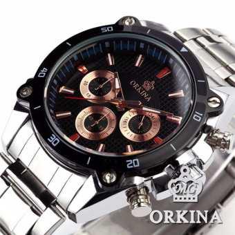 Luxury Stainless Steel Band Men's Wristwatch Japan Movt Quartz Watches Heren Horloge - Intl
