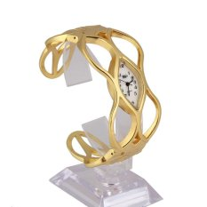 M&C Unique Design Women Skeleton Bracelet Watch Gold Luxury Dress Lady Watch - intl