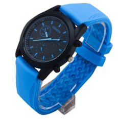 Maryswill Silicone Strap Candy Color Sport Watch (Blue)
