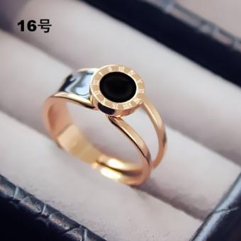 Masuknya Orang Korea Fashion Style Emas Naik Cincin Cincin