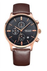 "'""""""Megir 2011 Men""""s Casual Leather Strap Quartz Waterproof Watch (Brown) (Intl) """"""'"
