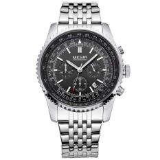Megir Brand Men Full Steel Watch Business Chronograph Watch (Silver) (Intl)