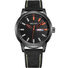 MEGIR Hot Fashion Men Sports Quartz Watches Men's Quartz Hour Date Clock Leather Strap Army Waterproof Wristwatch (Intl)