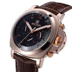 MEGIR Stainless Steel 3ATM Water Resistance Fashion Wristwatch Quartz Men Watch with Calendar (Intl)