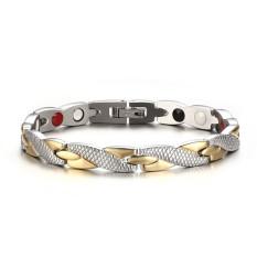Memutar gelang kesehatan gelang 316 Liter stainless steel perhiasan kasual untuk wanita tenaga pria H