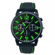 Men Fashion Stainless Steel Sport Cool Quartz Hours Wrist Analog Watch Green