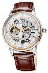 Men Watch Top Brand Luxury Watch Genuine Leather Strap Skeleton Style Self-wind Automatic Watch