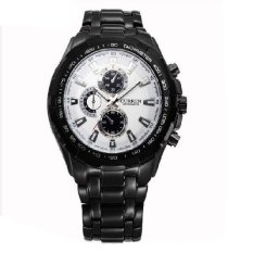 Men Watches Top Brand Luxury Men Military Wrist Watches Full Steel Men Sports Watch Waterproof Relogio Masculino Black&Black&White (Intl)