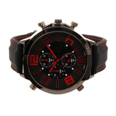 Men's Fashion Silicone Watch Strap Of The Large Dial Silicone Watch Red