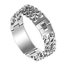 Men's Jewelry Big Men Bracelet Stainless Steel - Gelang Pria - 18cm - S