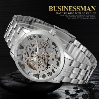 Men's Watch Automatic Movement Stainless Steel Bracelet Wristwatch - intl