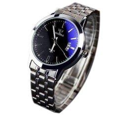 Men's Watches Stainless Steel Band Analog Display Quartz Men Wrist Watch Ultra Thin Dial Luxury Men's Date Watches (Intl)