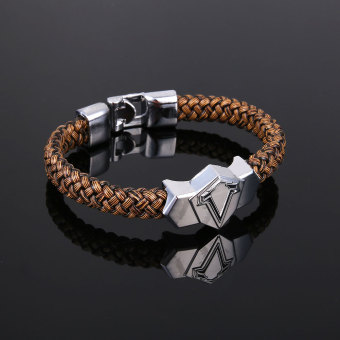 Metal Alloy Bangle Assassin's Creed Weave Wristband Game Bracelet Cosplay Gift - intl
