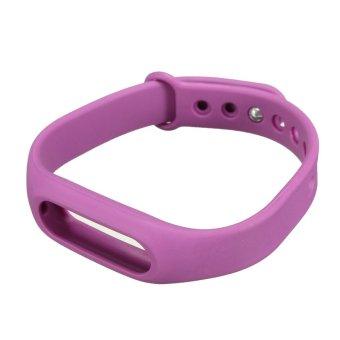 MIBand Bluetooth penggantian tali pengikat pergelangan tangan Band pergelangan tangan dpt dipakai untuk Xiaomi gelang Ungu