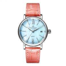 mingjue Polaroid long watch Girls simple fashion genuine waterproof quartz sapphire steel strap watch (Pink) - intl