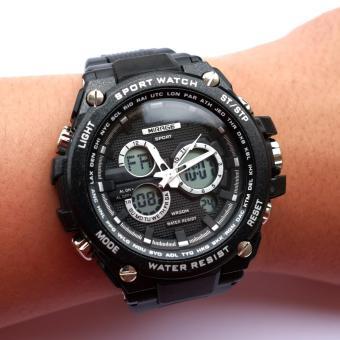 Mirage Men Sport Watch Dual Time 1674. Rp. 158.000