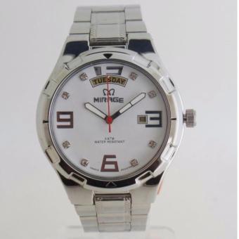 Mirage Original MRG 7804 - Jam Tangan Pria - Silver