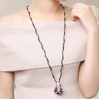 Hati merah S925 segar merah style perempuan rantai klavikula sterling silver kalung. Source · Hequ