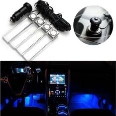 Mobil dekorasi Interior lampu saklar Off/pemantik rokok suasana lampu Neon lampu LED 4-in-1