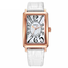 Moob With Women's Watch Fashion Watch Waterproof Watch [] A Genuine New Fashion Leisure Leather Amica (Intl) - Intl