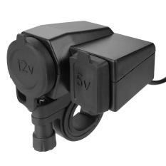 Motors Accessories Waterproof Motorcycle Handlebar 12V Cigarette Lighter Charger With 5V 2.1A Single Usb Port