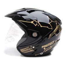 MSR Helmet Impressive - Protect Special Edition - Double Visor - Hitam Gold