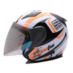 MSR Helmet Javelin - Aerotic - Putih Hitam Oren