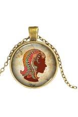 MULBA Women Fashion Short Necklace The Constellation Necklace Virgo Pendant WQ192 Bronze