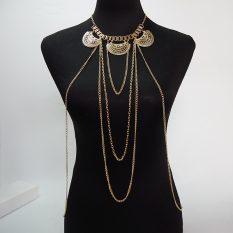 Multi Layer Body Chain Necklaces&Pendants Gold Body Chains Punk Necklace Fashion Party Jewelry Trendy Accessories (Intl)