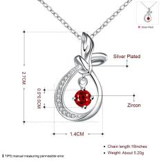 N062-A 2016 Newest Necklaces Pendants Personality Geometry Design Silver Plated Bling Necklace Women Jewelry - Intl