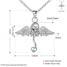 N07.2016 Newest Necklaces Pendants Personality Geometry Design Silver Plated Bling Necklace Women Jewelry - Intl