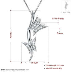 N70.2016 Newest Necklaces Pendants Personality Geometry Design Silver Plated Statement Bling Necklace Women Jewelry - Intl