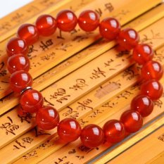 Natural Opening Benming Red Agate Bracelet Bracelets Men and Women Couple Paragraph Lucky Gifts Specials -12 Mm Bead Diameter (Men and Women Through Paragraph) (Intl)