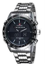 NAVIFORCE 9024C Double Movement Stainless Steel Waterproof Watch (Silver) (Intl)