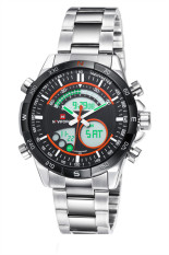 NAVIFORCE 9031B Fashion Double Movement Waterproof Watch (Orange) (Intl)